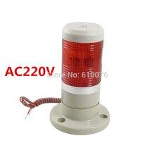 Ac220v красный Устойчивый сигнал башня промышленные Предупреждение лампы стек световой сигнализации аппарат