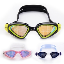 MESUCA Adult Unisex Plating Anti-fog UV Swimming Goggles Swim Glasses