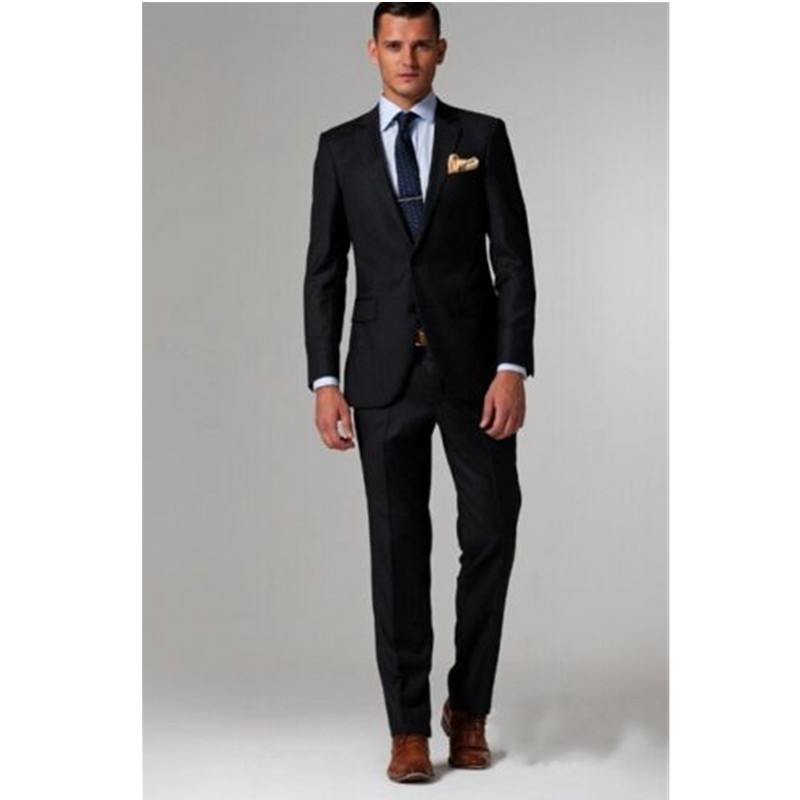 New mens suits slim fit black groom tuxedo formal wedding groomsmen business casual wear professional suits custom tops and pan