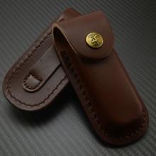 5 дюймов из натуральной кожи нож оболочка Складные карманные ножи ножны сумка кобура нож ножны