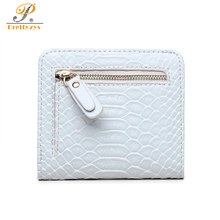 Alligator Women Small Wallets Pu Leather Purse Card Holder Female Perse for Money and Coins Zipper Slim Ladies Bag Dollars Black