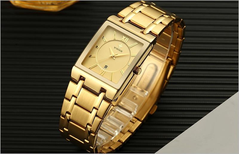 HTB1rFJ9aoGF3KVjSZFmq6zqPXXaP Men Watches Top Brand Luxury WWOOR Gold Black Square Quartz watch men Waterproof Golden Male Wristwatch Men watches