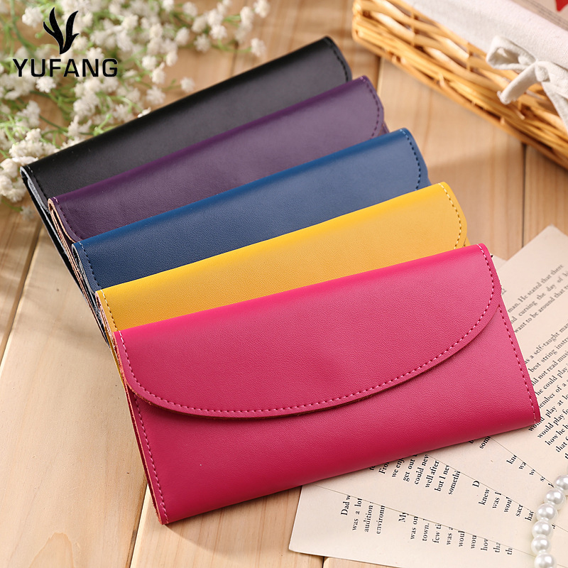 YUFANG Genuine Leather Women Purse Leisure All-match Female Wallet Brand  Women s Money Bag Large Capacity Card Holder For Ladies 4e27ad41a67dc