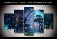 Unframed Printed Tiny World Fantasy Art 5 Piece Wall Painting Wall Art Home Room Decor Poster Canvas Drop Shipping
