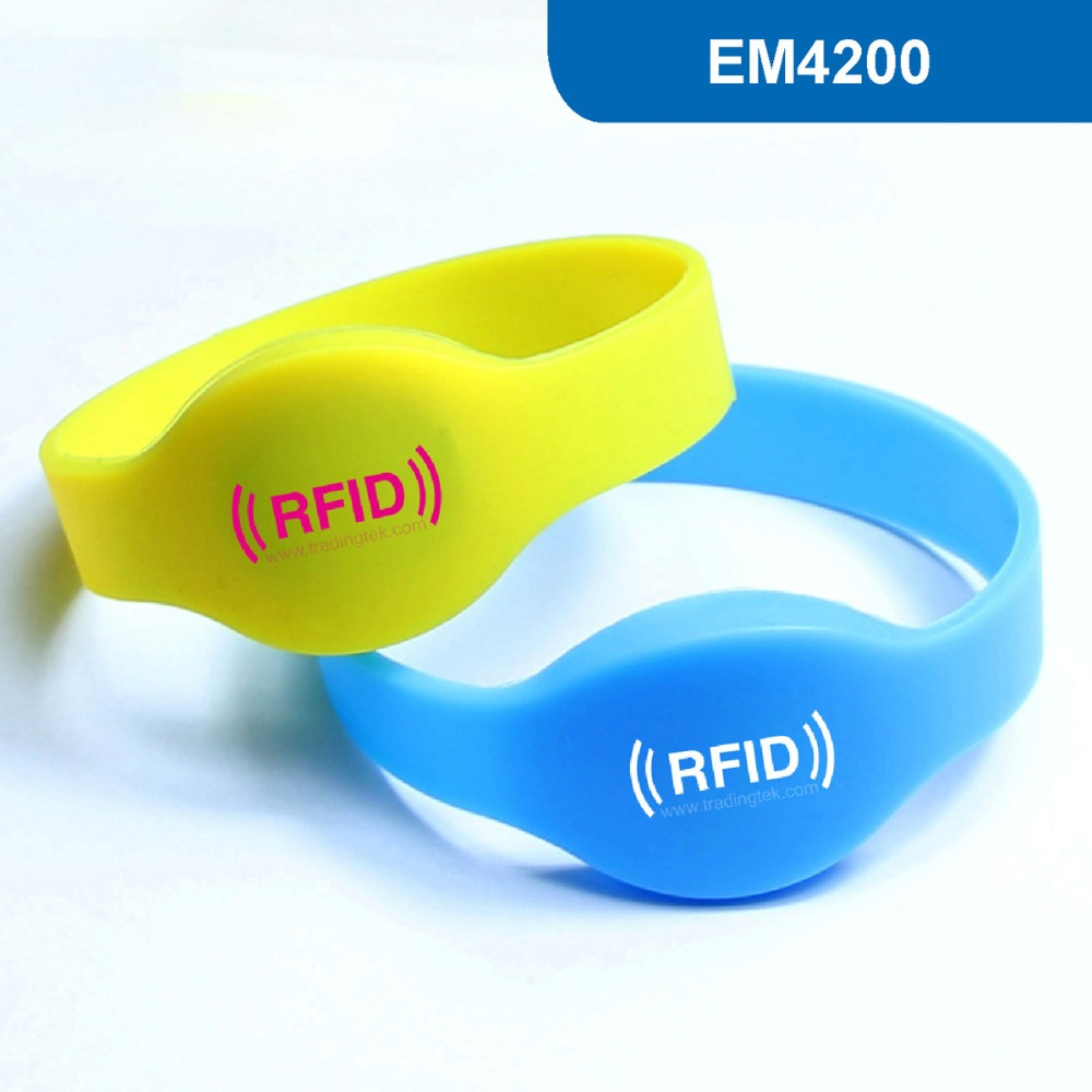 WB01 RFID wristband & Silicone wristband & RFID Bracelet tag ID Tag 125KHz with EM4200 Chip Free Shipping