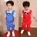 Yue Yue Кошка sq01 мальчика одежды детей дети мальчики длинные рукава красивый костюм устанавливает случайные дизайн футболки и брюки