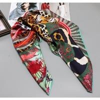 Высокий стиль 100% саржевый шелковый шарф хиджаб женские головные шарфы для обертывания волос большие квадратные шелковые шарфы Foulard 35X35 дюйм...