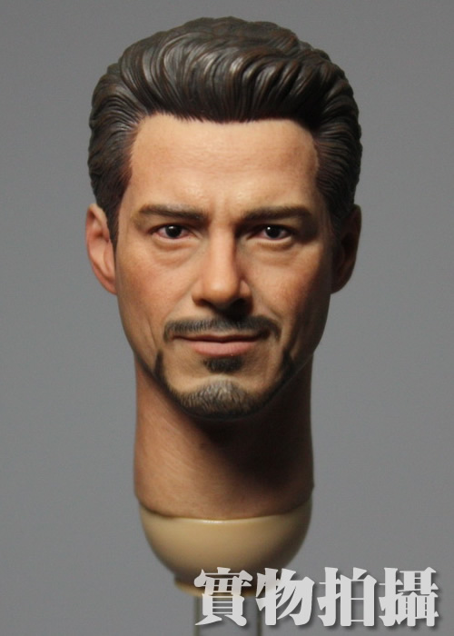 Brand New 1/6 Scale The Avengers Iron Man Tony Stark (Robert Downey Jr.) Head Sculpt For 12'' Action Figure Model Toy brand new 1 6 scale head sculpt iron man 2 ivan vanko mickey rourke head sculpt accessorise for 12 action figure model toy
