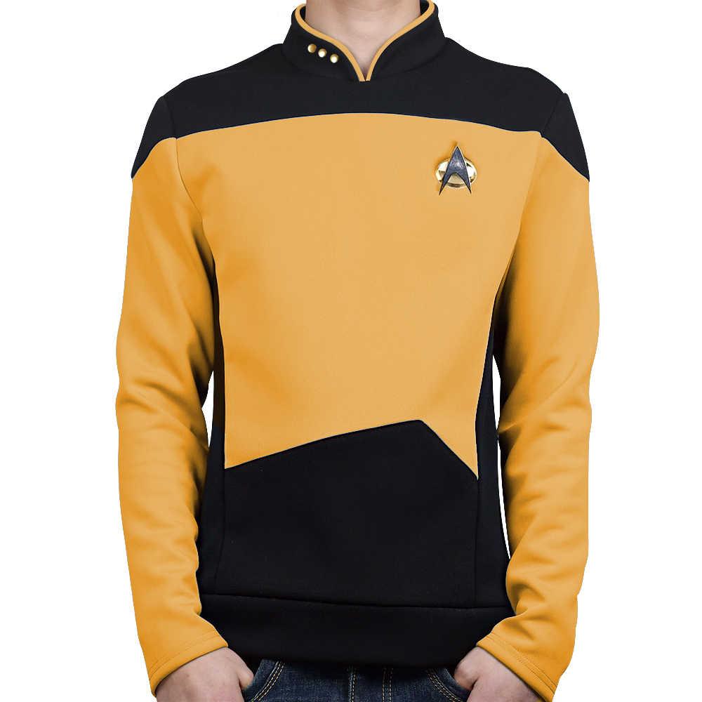 Star TNG The Next Generation Trek Red Yellow Blue Shirt Uniform Cosplay Costume For Men Coat Halloween Party|Movie & TV costumes| - AliExpress