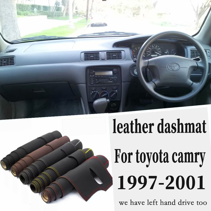 For Toyota Camry 1997 1998 1999 2000 2001 Leather Dashmat Dashboard Cover Pad Dash Mat Carpet Car Styling Accessories Custom