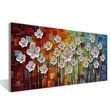 Cent fleurs ensemble 3D toile peinture mur Art salon chambre Restaurant intérieur peint à la main peinture à lhuile