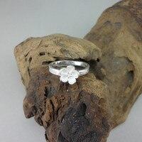 Women Rings 999 Sterling Silver Jewelry Handmade Simple Flower Petals Titanium Steel 004 Ring Cute Things Online Chinese Store