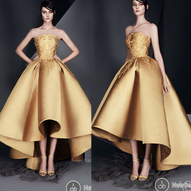 58cf7456f Nueva Llegada Vestidos de Noche Vestidos de la Longitud del Piso Sin  Tirantes de Escote de