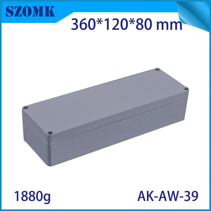 En aluminium Moulé sous pression Étanche Boîte de Jonction pour L'électronique PCB Conseil Conception Diy Instrument Projet Case Boîtier pour 360x120x80 m