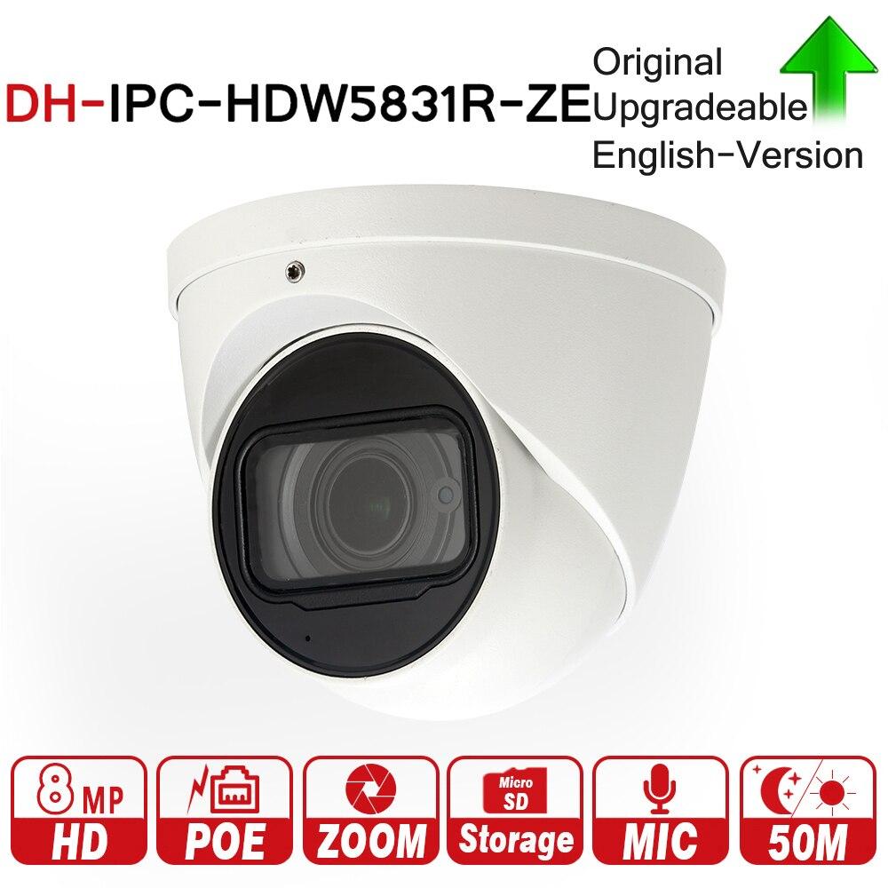 DH Avec logo Original IPC-HDW5831R-ZE 8MP WDR Dôme IP Caméra 2.7-12mm avec MICRO SD Fente Pour Carte POE 50 m ICR DH-IPC-HDW5831R-ZE