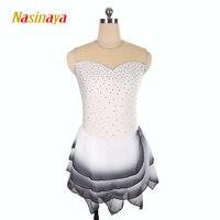 Nasinaya фигурное катание платье заказной конкурс Катание на коньках юбка для девочки Для женщин дети patinaje гимнастика производительность 157