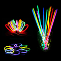100pcs/lot Christmas Party Concert Supplies Fluorescent Bracelets Glow Sticks Wedding Party Decoration Night Light Sticks