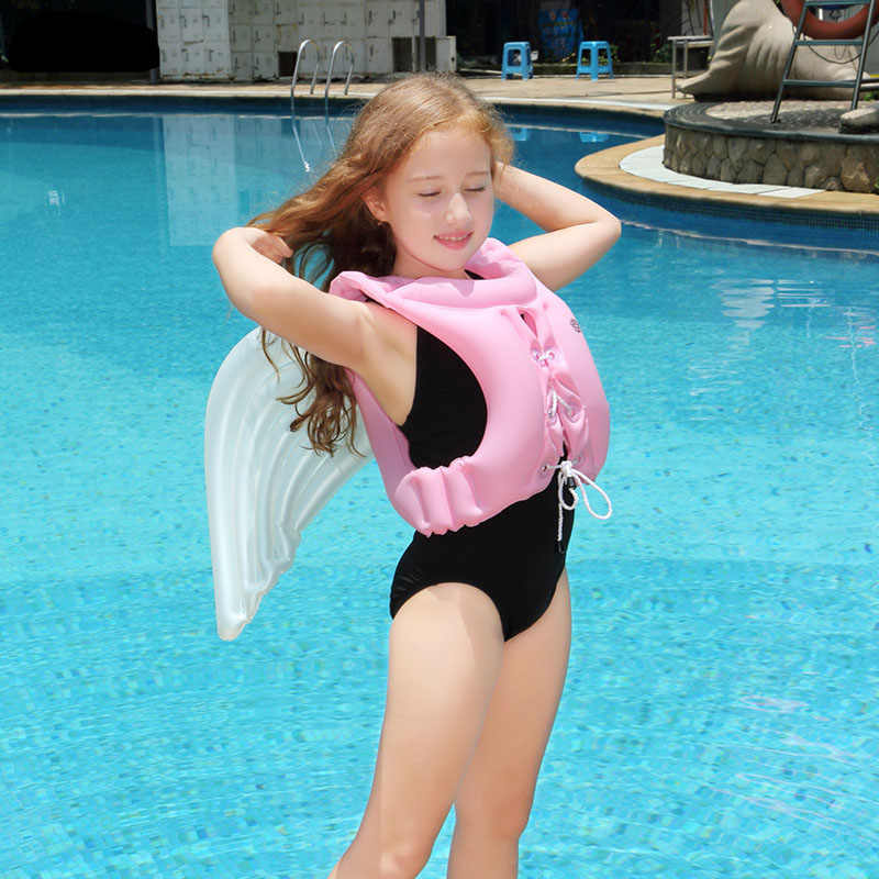 8fb530b3747 ... 2018 Newest Angel Design Children's Swimsuits Girls And Boys Inflatable  Life Jackets Kids Swimming Equipment Floating ...