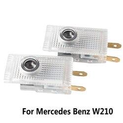 2x luces de cortesía de la puerta del coche Proyector láser Logo LED lámpara para Mercedes Benz W210 E220 E200 E230 E240 E55 Sprinter Viano Vita AMG