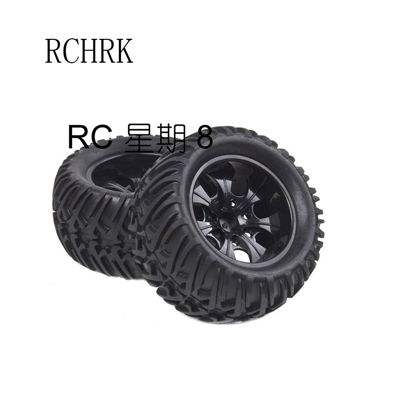 2pcs rubber Wheel 125mm width 69mm hexagon combined with 12mm bigfoot tires suitable for Rc car 1:10HSP 94188 94108 94111