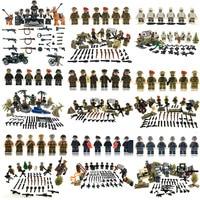World War 2 Tunisia Campaign Us Fifth Army Military Gun Model Building Block Brick Toy Military