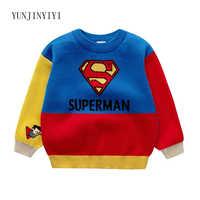 Nouveaux vêtements pour enfants garçons et filles Crayons Xiaoxin Superman Captain America Super Mario chandail de dessin animé pour enfants