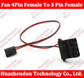 5pcs/lot 30CM Computer Fan 4 Pin Molex Female To 3 Pin Female Adapter Cable Free shipping