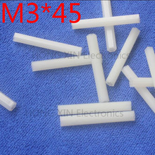 M3*45 45mm 1 pcs white nylon Nylon Hex Female-Female Standoff Spacer Threaded Hexagonal Spacer Standoff Spacer brand new цена