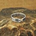 Personalizável anel de yoga, anel da mão de hamsa, mensagem secreta bênçãos e força personalizado presente personalizado citação yoga anel