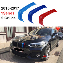 3D M Styling Front Grille Trim motorsport Strips grill Cover Sticker For 2015 2018 BMW 1 series F20 F21 116i 118i 120i 9 grilles