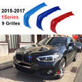 3D M Styling Grille Trim motorsport Strips grill Cover Sticker Voor 2015-2018 BMW 1 serie F20 F21 116i 118i 120i 9 roosters