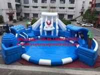 (China Guangzhou) manufacturers selling inflatable slides, Inflatable water park, large water toys, ice and snow park KY 715