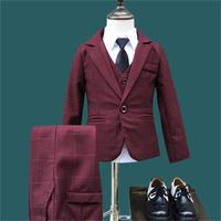 New Children Suit Baby Boys Suits Kids Blazer Boys Formal Suit For Wedding Boys Clothes Set Jackets Blazer+Pants 3pcs 2 10Y