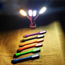 Ultra Bright 1.2W LEDs USB lamp for Notebook Computer Laptop PC Portable Flexible metal Neck LED USB light foldable book light(China)