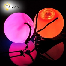 TSLEEN 1/2/4Pcs LED POI Thrown Balls Pro Flashing Waterproof LED Multi-Coloured For Professional Belly Dance Level Hand Props