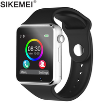 SIKEMEI Bluetooth Smart Watch font b Smartwatch b font Phone with Pedometer Touch Screen Camera Support
