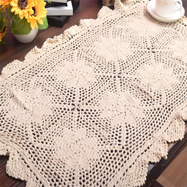 50*82 cm cordón caliente algodón ganchillo Mesa lugar alfombra ...