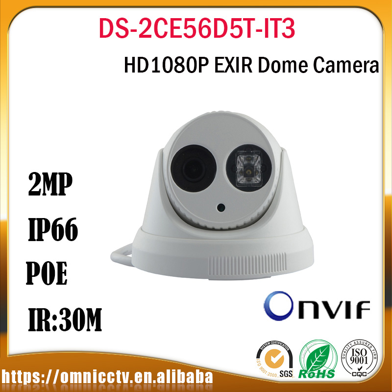 Hikvision CCTV AHD TVI Camera DS-2CE56D5T-IT3 Turbo HD 1080P 2MP IR Night Digital zoom Security Video Surveillance Camera new 2mp hd cctv ahd camera 1080p zoom 2