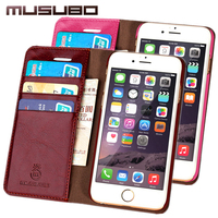 Laumans Luxury Women Leather Case For Apple IPhone 7 6 6s Plus Lady Girls Wallet Phone