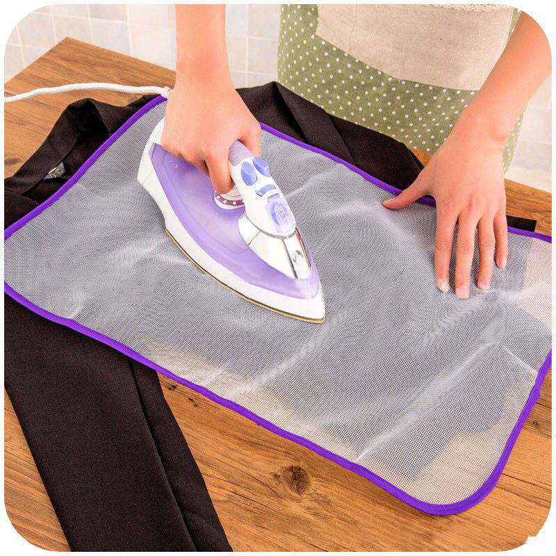 40x60cm Protective Press Mesh Bag Home Ironing Cloth Guard Protect Delicate Garment Clothes Laundry Basket	 Clothes Hanger