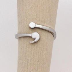 Запятой кольцо для девочки Регулируемый кольцо психического кольцо здоровья Вдохновенный ювелирных изделий личной жизни Выпускной