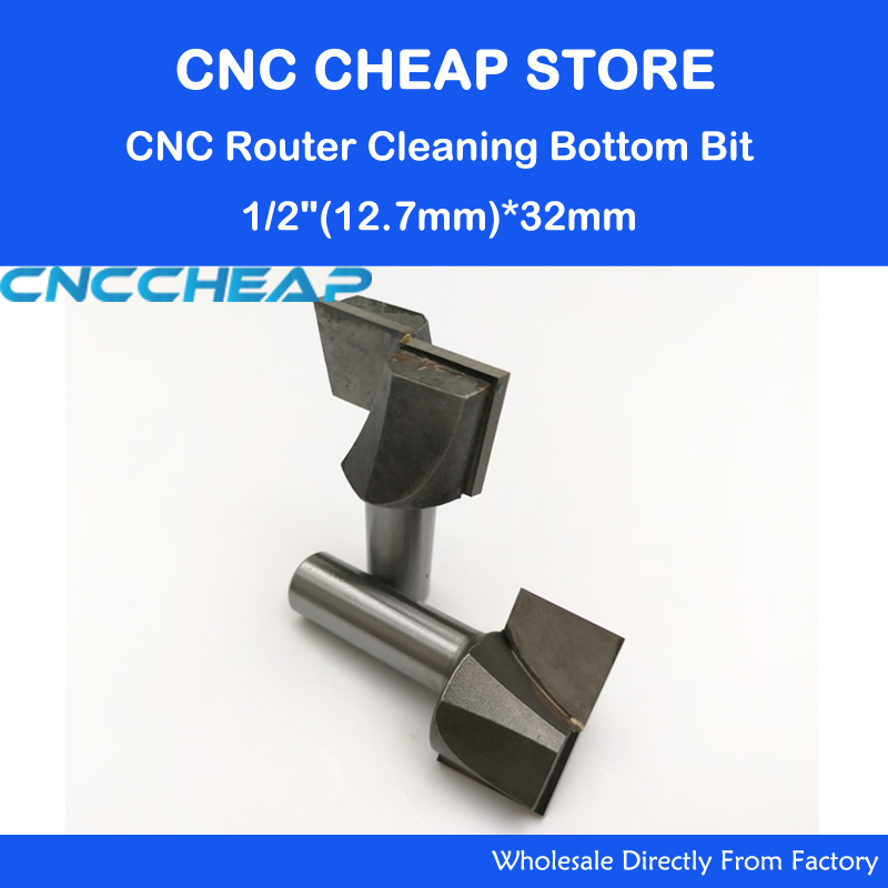 2pc High Quality CNC Router Bottom Cleaning Router Woodworking Bits SHK 12.7mm CED 32mm 1pc cleaning bottom router bit cutter cnc woodworking clean bits 1 2 shank dia