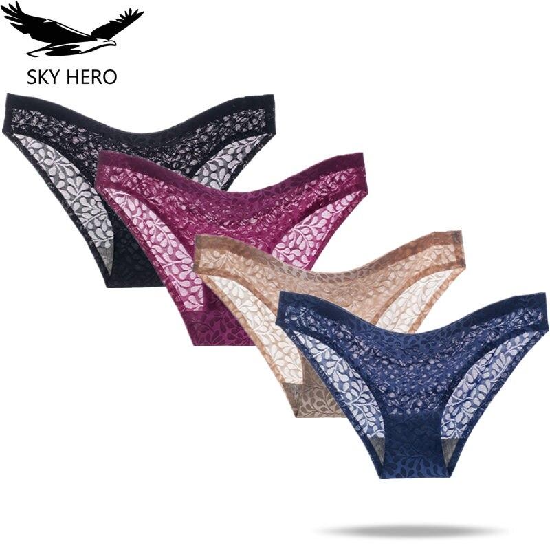 4pcs/lot Women panties seamless underwear women's lace cotton culotte femme sexy cotton underpants ladies plus size panty woman