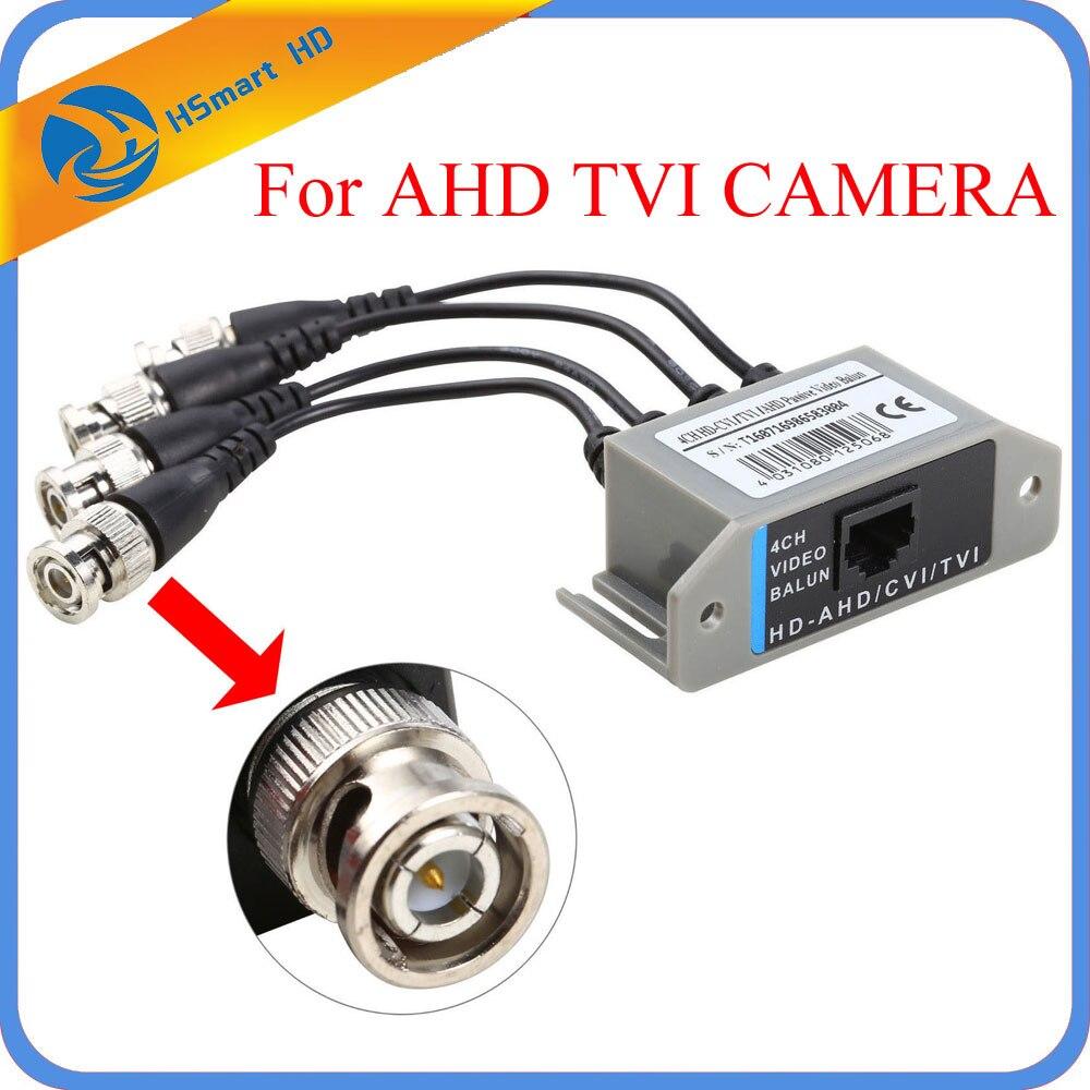 New Hot 4CH HD Passif Vidéo Balun Transceiver BNC À UTP RJ45 CCTV Via Paires Torsadées pour AHD TVI CVI caméra DVR CCTV Système