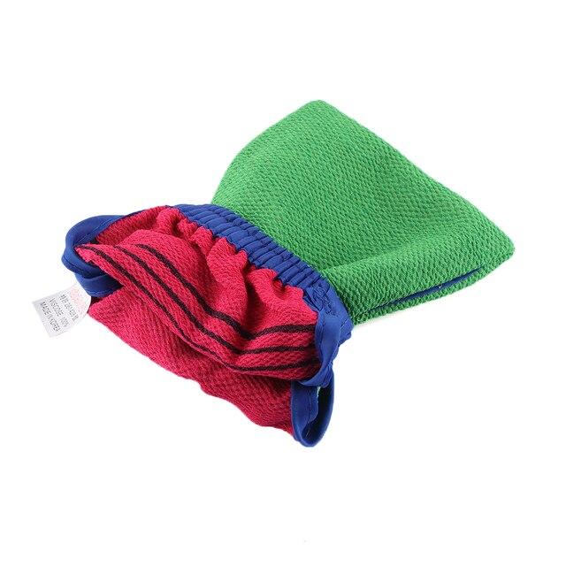 1 PC Random Color Shower Spa Exfoliator Two-sided Bath Glove Body Cleaning Scrub Mitt Rub Dead Skin Removal Bathroom Products 2