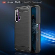 honor 20 Pro Case for on Cover huway Huawei Soft Carbon Fiber Silicone Bumper Coque Etui