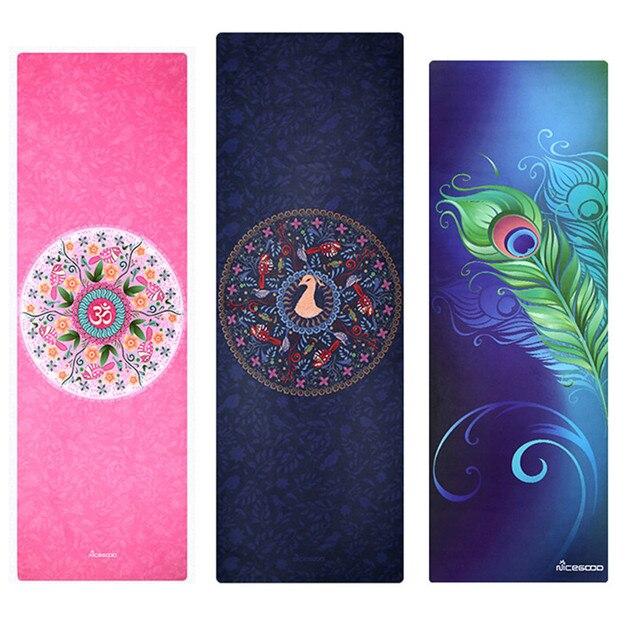 Nouvelle Lumiere Tapis De Yoga Imprime Caoutchouc Naturel Non