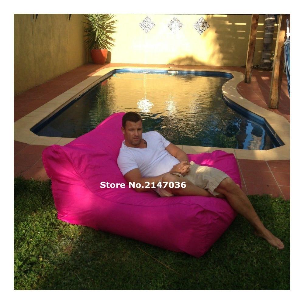 Big Joe Spring Splendor Wave Lux Outdoor Pool Float , Waterproof Bean Bag Cover