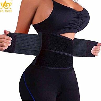 Cn Herb Slimming Waist Shaper Body Support Belt Waist Trainer Trimmer Cincher Belt With Dual Adjustable Belly