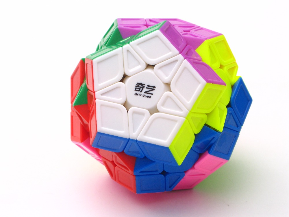 Newest QiYi Mofangge QiHeng S Megaminx sculpture Stickerless Colorful Twist puzzle Learning Educational font b Toys